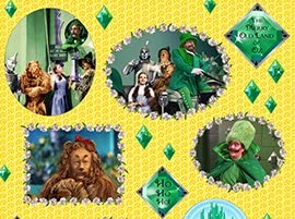 Amazon Com The Wizard Of Oz Emerald City Swirl Cotton Fabric By The Half Yard