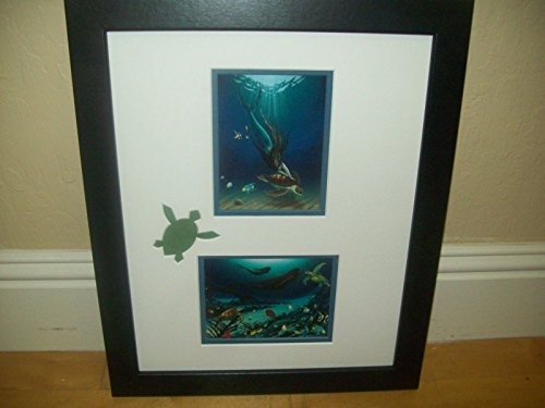(By Wyland Turtle Cut Out On Mat Mermaids)