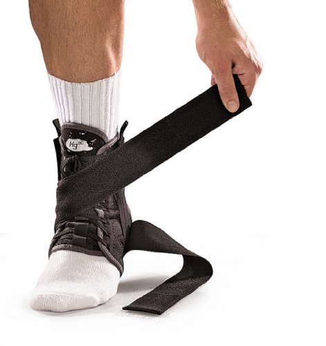 Mueller Hg80 Ankle Brace - Mueller Hg80 Ankle Brace with Straps, Medium Black
