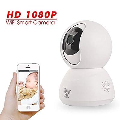 Wireless Security Camera, 1080P HD Outdoor PTZ WiFi Camera, Zjuxin Wireless Surveillance CCTV IP Camera, Waterproof IR Night Vision Two-Way Audio from Zjuxin