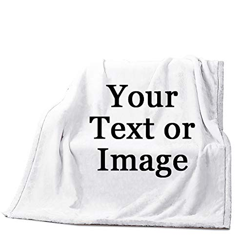 Image Or Text Picture Printed Velvet Plush Fleece Feeling Super Soft Cozy Bedroom/Couch/Sofa Throw Blanket 58x80 inch(Large)(Two Sides Printed)