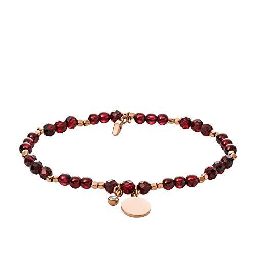 Fossil Women's Garnet Bracelet, Rose Gold, One Size -