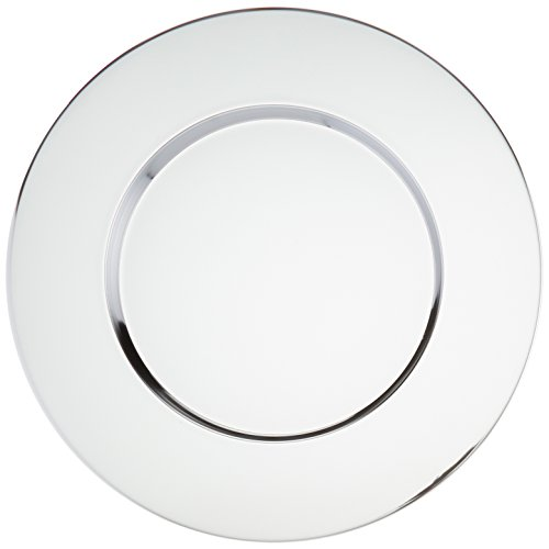 Charge it by Jay Round Stainless Steel Bridal Metal Charger Plate