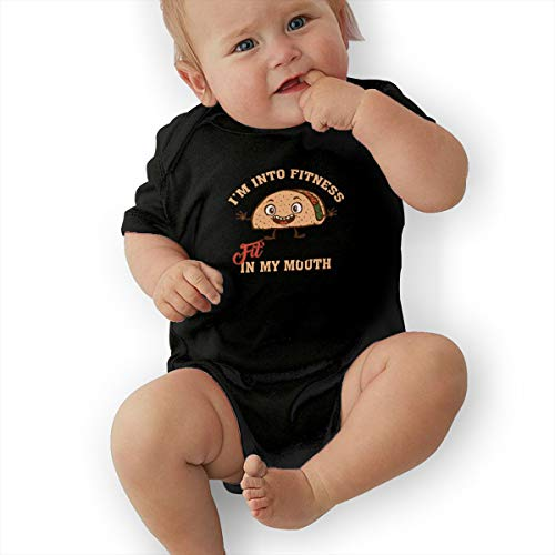 Whisky Hamper - Im Into Fitness Fitness Whiskey in My Mouth Newborn Infant Baby Short Sleeve Bodysuit Romper Jumpsuits Playsuit