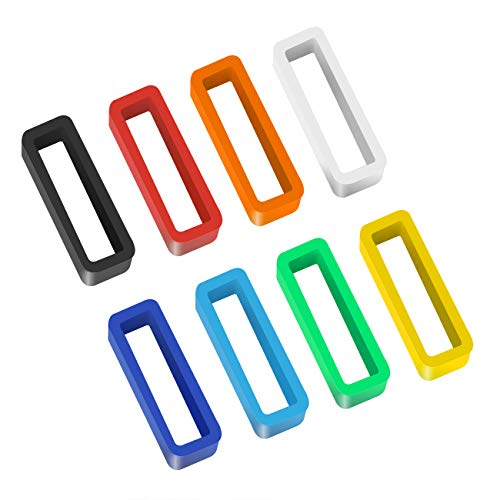 eplacement Watch Band Strap Loops Silicone Watch Strap Keeper Retainer Holder Loop(Mix Color) ()