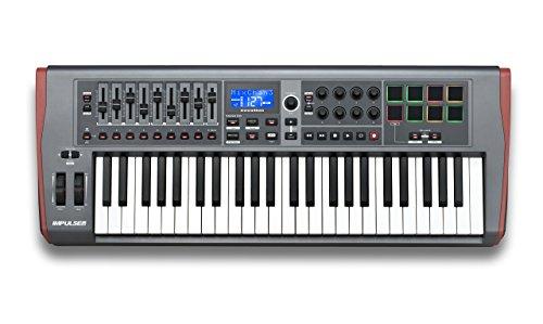 Novation Impulse 49 USB Midi Controller Keyboard, 49 Keys (Certified Refurbished) by Novation