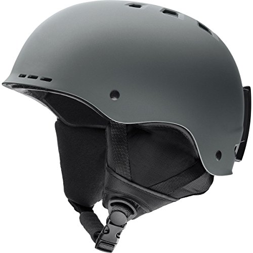 Black Bern Boots - Smith Optics Holt Adult Ski Snowmobile Helmet - Matte Charcoal/Large