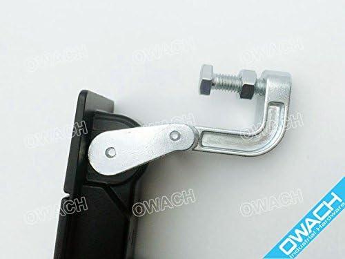 with key,Flat bracket RV compartment lock trigger latch baggage door latch Long grip arm Adjustable Grip Range: 1.77-2.25 45-57mm