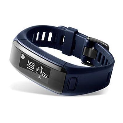 Garmin vívosmart HR Activity Tracker Regular Fit - Midnight Blue (Renewed)