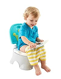 Fisher-Price Stepstool Potty, Royal, Blue/White BOBEBE Online Baby Store From New York to Miami and Los Angeles