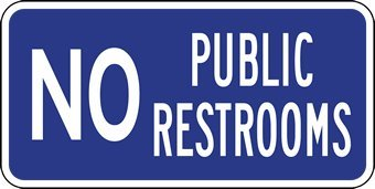 photograph relating to No Public Restroom Sign Printable identify No General public Restrooms Indicator - 12x6