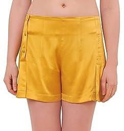 Marycrafts Womens Pure Silk Pajamas Sleep Summer Shorts Loungewear 6 Gold