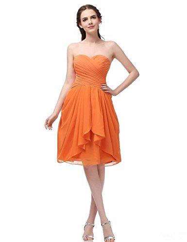 Damen Chiffon Abendkleider Ballkleid Herzenform Abschlusskleider ...