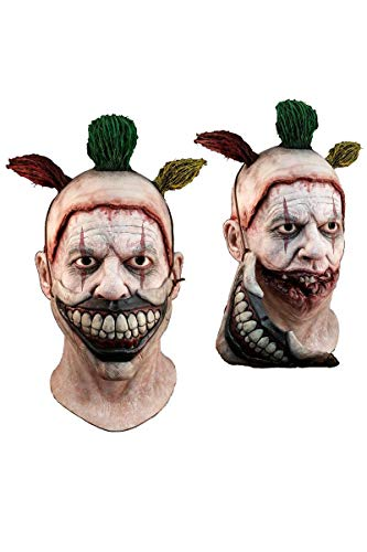 Horror Or Halloween (Trick or Treat Studios American Horror Story Twisty the Clown Deluxe Mens Mask for)