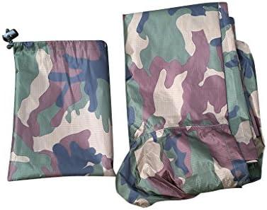 Non-brand Impermeabile Ripstop Pioggia Poncho Militare Camouflage Camping