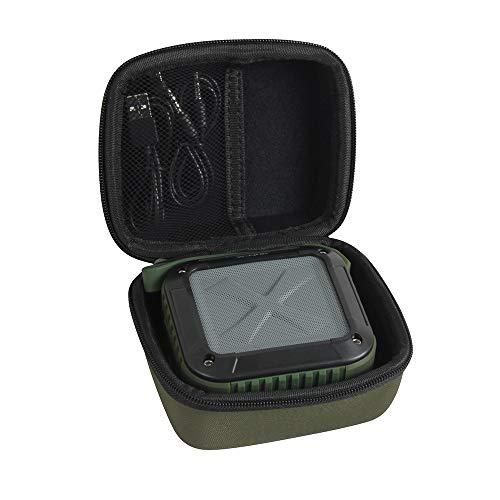 Hermitshell Hard Case Storage Bag Fits Milemont/AYL/ShackJoy/Infinilla Wireless Bluetooth Speakers (Green)