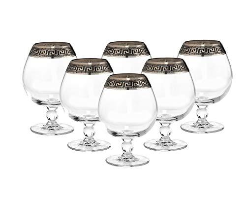 Gold Brandy Glass -