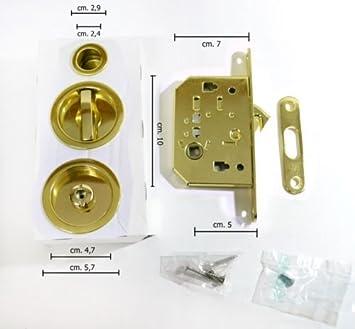 Kit de cerradura para puertas correderas: Amazon.es: Bricolaje y herramientas