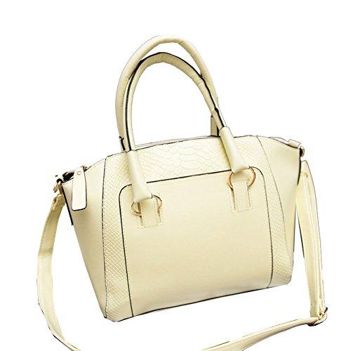 fashion-women-shoulder-bag-leather-satchel-tote-handbag-purse-new-beige
