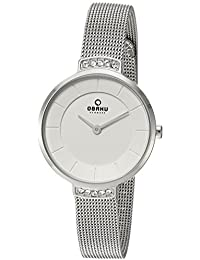Women's Analog-Quartz Watch with Stainless-Steel Strap, Silver, 10 (Model: V177LECIMC)