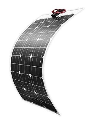 DOKIO 50 Watt 12V 18V Monocrystalline Lightweight Solar Panel