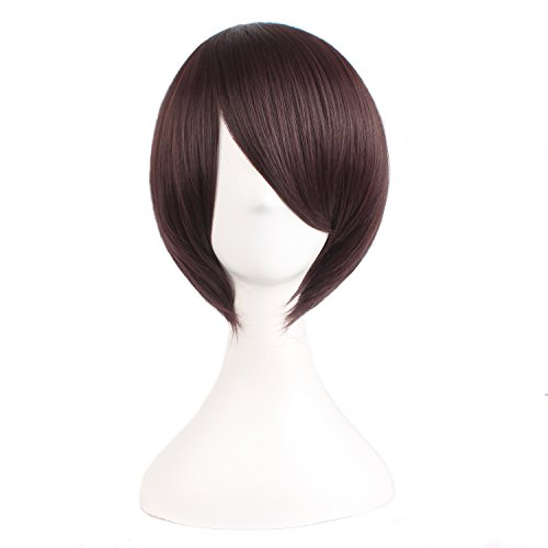 [MapofBeauty Short Straight Cosplay Costume Wig Party Wig (Dark Brown)] (Dark Chocolate M&m Costume)