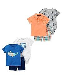 Carter's - Conjunto de Playera y pantalón Corto para bebé (6 Piezas)