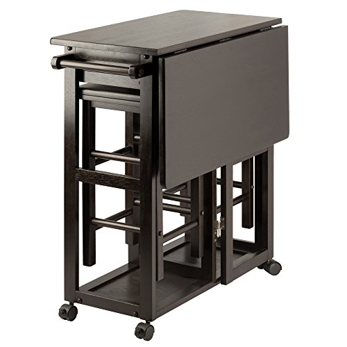 Winsome Wood 23330 Suzanne 3-PC Set Space Saver Kitchen, Smoke ()