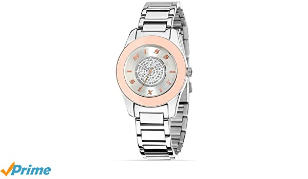 Miss Sixty Reloj analogico para Mujer de Cuarzo con Correa en Acero Inoxidable R0753119502: Amazon.es: Relojes