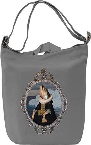 Salmon woman Borsa Giornaliera Canvas Canvas Day Bag  100% Premium Cotton Canvas  DTG Printing 