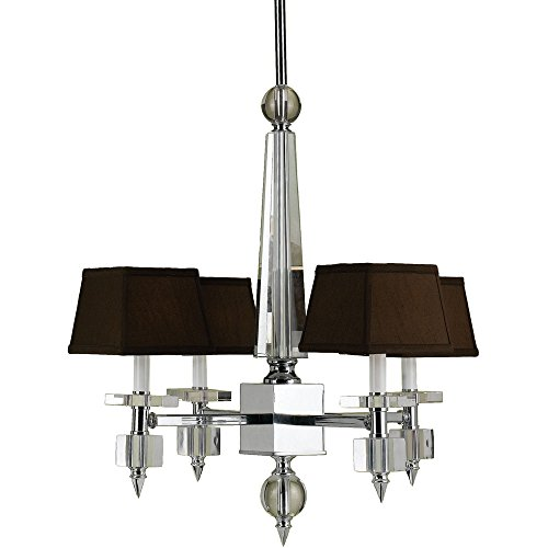 AF Lighting 6686-4H Cluny 4-Light Crystal Chandelier - Candice Chrome Chandelier