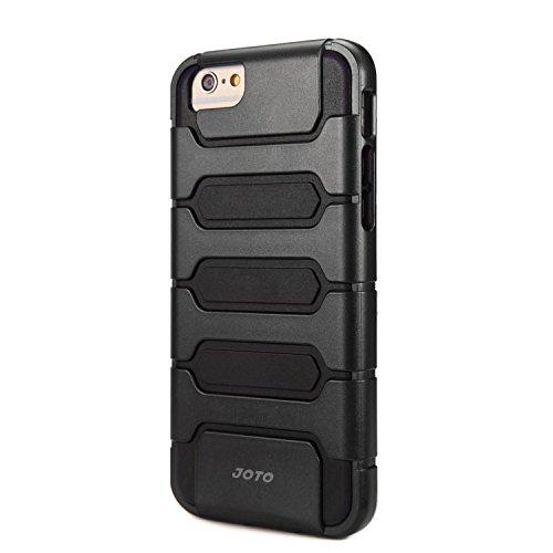 "JOTO iPhone 6S / iPhone 6 4.7 Case - Premium Armor Hybrid Bumper Cover Case (Dual Layer: Flexible TPU + Hard PC) for Apple iPhone 6S 4.7""/ iPhone 6 4.7"" (Black)"