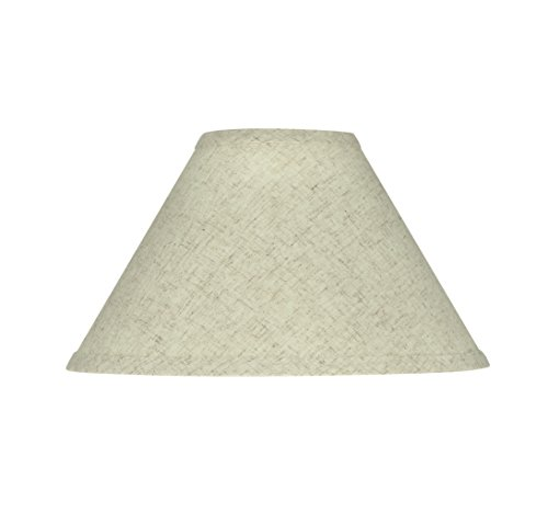 Aspen Creative 58703 Transitional Hardback Empire Shape UNO Construction Lamp Shade in Beige, 11' Wide (4' x 11' x 7')