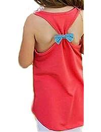 37e65fcfc90 Girls Kids Anchor Vest Sleeveless Summer Clothes Cotton Tank Tops Bowknot  T-Shirt