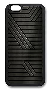 ACESR Black Steel Recommended iPhone 6 Case TPU Back Cover Case for Apple iPhone 6 4.7inch Black