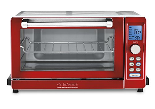 Cuisinart TOB-135MR Deluxe Convection Toaster Oven Broiler – Metallic Red, Metallic Red Review