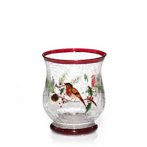 Yankee Candle Hurricane Winter Bird Crackle Votive Holder
