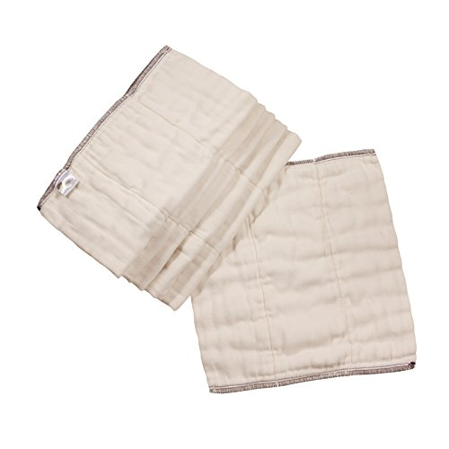 OsoCozy - Bamboo Organic Prefolds (6 Pack) - Ultra Soft, Bamboo Cotton Blend Baby Diapers - Eco-Friendly and Antimicrobial - Diaper Service Quality (DSQ) (7-15 lb.) (Infant Short 4x8x4)