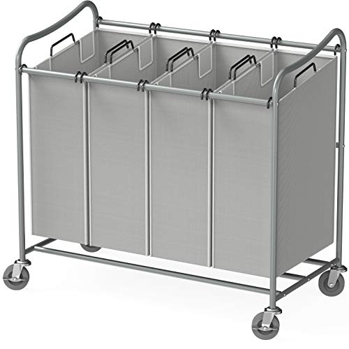 Simple Houseware 4-Bag Heavy Duty Laundry Sorter