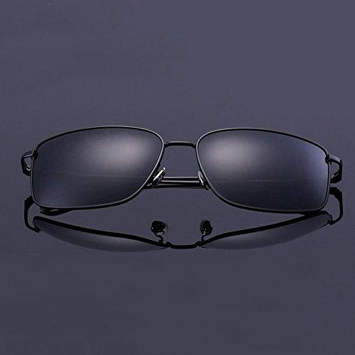 Libre Polarizada Color Cuadrada Anti 100 Gafas UV Clásico De Conducción Caja UVA Gafas Protección Sol Hombres Negro Negro Gafas Luz Protección Aire Solar WYYY De qFP6wBC