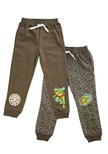 Boys TMNT 2-Pack Turtle Power Fleece Pants Size 6 Green]()