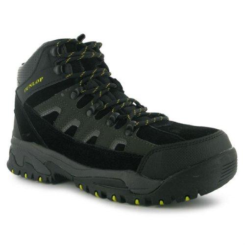 Dunlop Mens Safety Hiker Boots Lace Up Shock Absorbing Lightweight Shoes Black/Charcoal UK 10.5(44.5) m4Tp4Qj