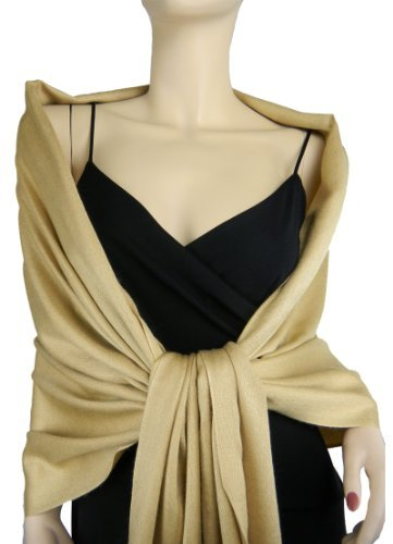 Pashmina / Silk Shawl Gold