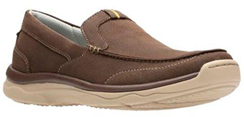 CLARKS Men's Marus Step Slip-On Loafer Brown 8.5