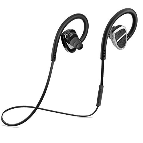 VOTRON Bluetooth Headphones Sport Earbuds Wireless V4.1 with Mic Mini Hands-free Phone Speech Control Stereo Music Headset-In-Ear CVC 6.0 Noise-Cancelling Sweatproof Earphones for Smart Phones