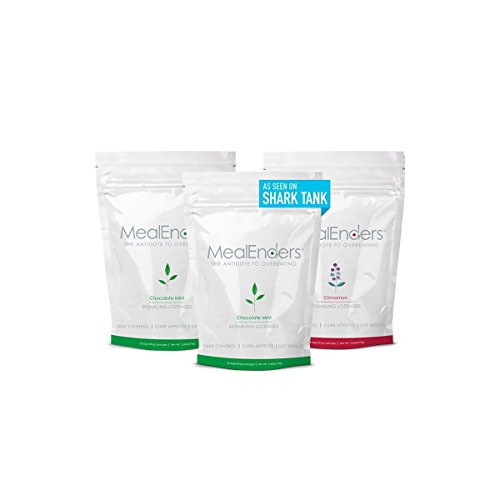 MealEnders Signaling Lozenges — Control Appetite and Cravings, Stop Overeating, and Boost Your Diet Weight Loss Program, 25-Count Bag (Pack of 3) (Choc. Mint/Cinnamon)