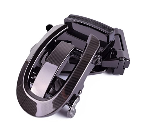 Automatic Ratchet Belt Buckle Vintage Metal Dress Accessories for Men Tow Colors (Horseshoe) from Yuanmo
