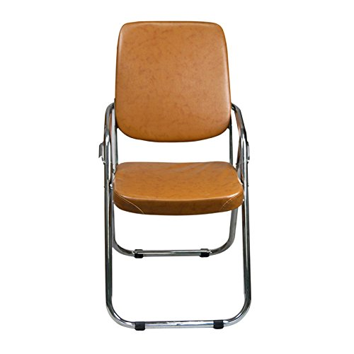 Yi Hai Folding Chair Thick Padded,new Style,metal, Brown,set of One