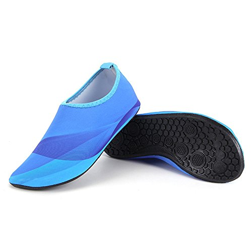 HYSENM Yoga blue Functional Kids Water Skin Shoes Barefoot Swim Surf Multi For Beach Unisex Aqua Socks PrwqxRPZ