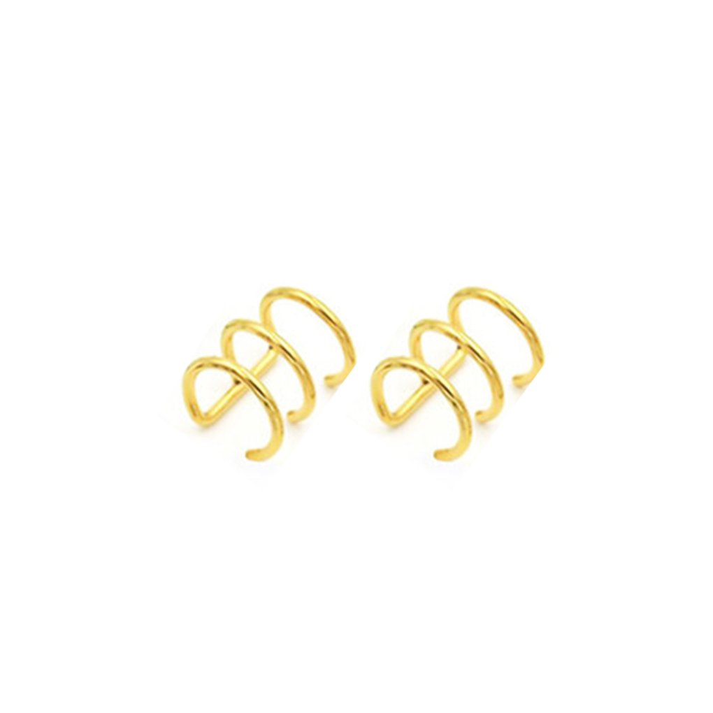 Minzhi Punk Rock Ear Clip Cuff Wrap Earrings No Piercing-Clip Hollow U Shaped Earrings Non Piercing Jewelry Earrings